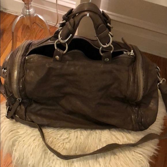 Ash Handbags - ASH brown / taupe genuine leather purse hangbag